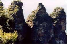 Legende von den Three Sisters in den Blue Mountains
