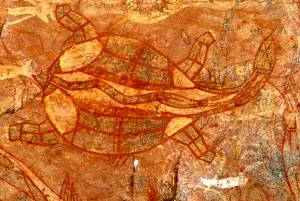 Aboriginal Rock Art aus Ubirr